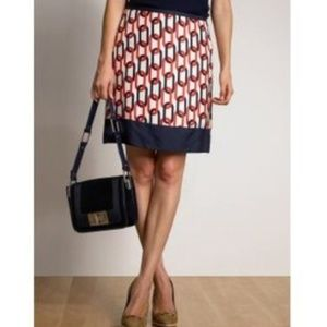 Banana Republic Chain Print Silk Skirt